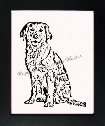 Long Haired Labrador Vinyl Design